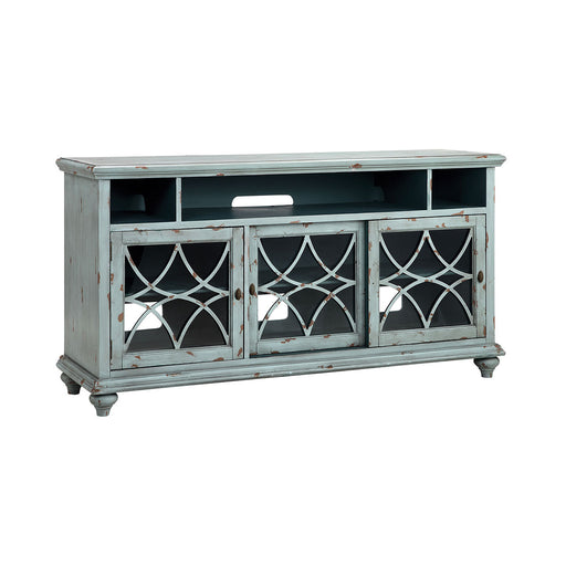 16602 Bethania 64 Inch Entertainment Console Blue, Grey