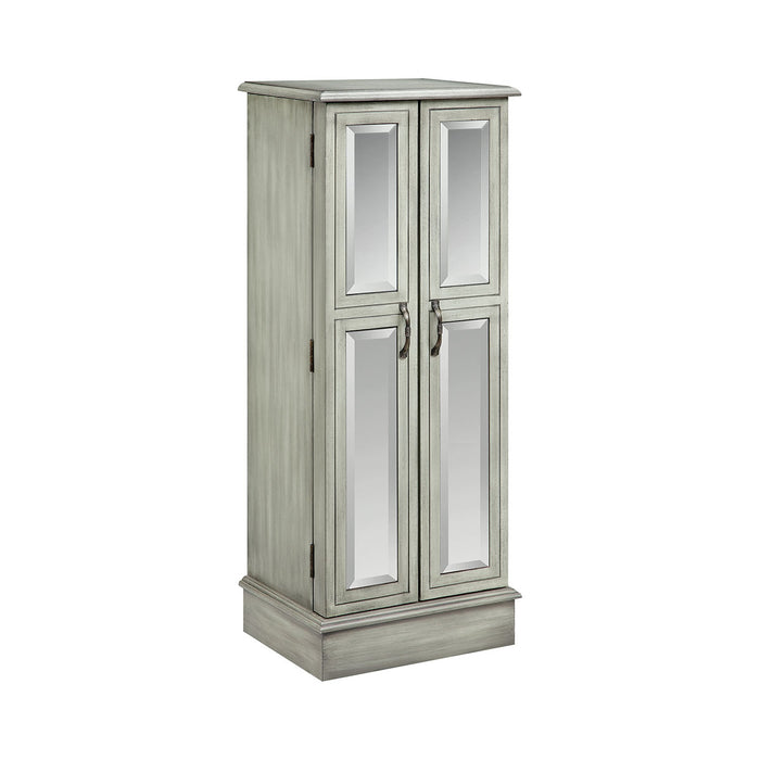 16621 Ellis Mirrored Jewelry Armoire Hand-Painted, Slate Grey