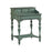 16647 Cecilia Phone Desk Grey, Hand-Painted, Turquoise