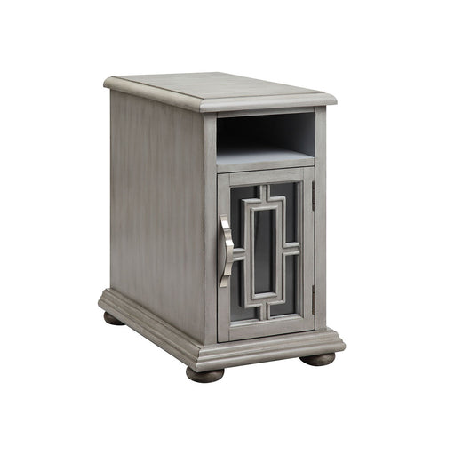 16663 Barron Chairsider Clear, Grey, Hand-Painted
