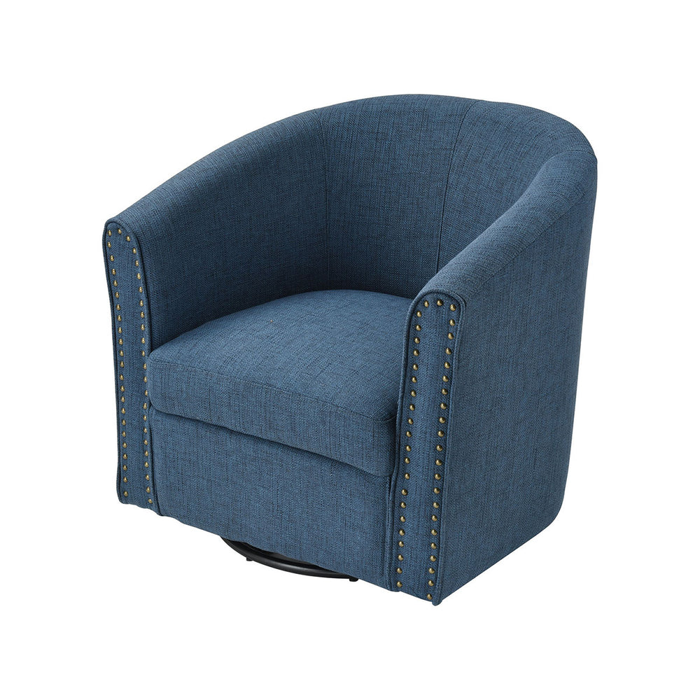 16894 Avalor Navy Linen Chair Navy Linen