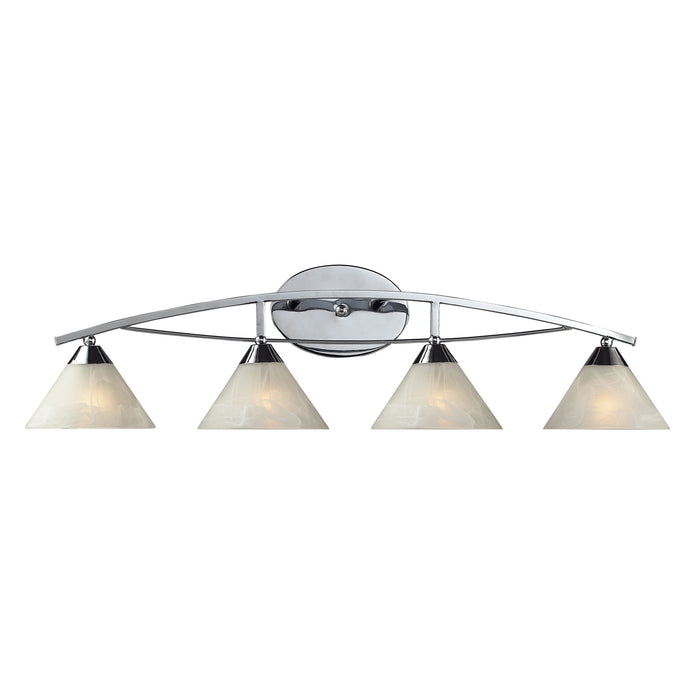 ELK Lighting 17024/4 Elysburg 4 Light Wb In Polished Chrome Polished Chrome Free Parcel Delivery