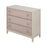 17028 Mittman Off-White And Natural Linen With Nail Head Chest Off-White, Natural Linen, Nail Head