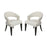 17090/S2 Cavendish Chair - Antique White Linen Off-White Linen, Walnut