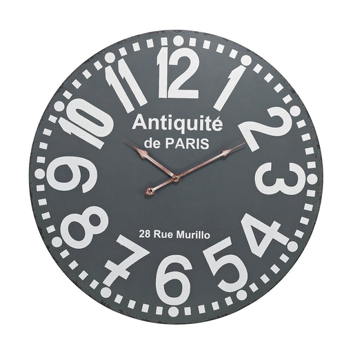171-009 Antiquite Wall Clock Grey