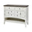 17124 Hartford 2 Drawer 2 Door Cabinet - White With Dark Top White, Dark Wood