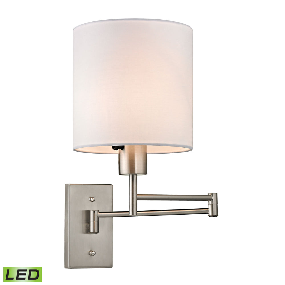 ELK Lighting 17150/1-LED Carson Collection 1 Light Swingarm In Brushed Nickel Brushed Nickel Free Parcel Delivery