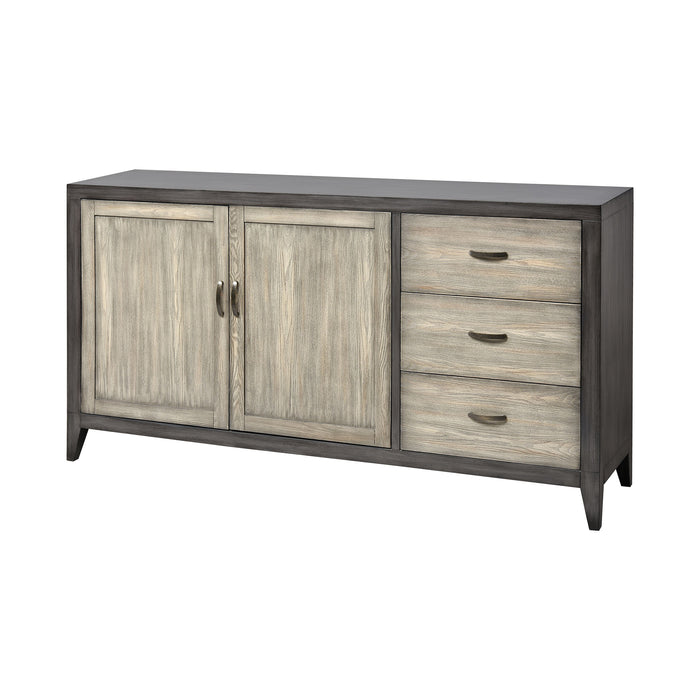 17158 Blufftop Sideboard Wavertree Oak, Dark Grey
