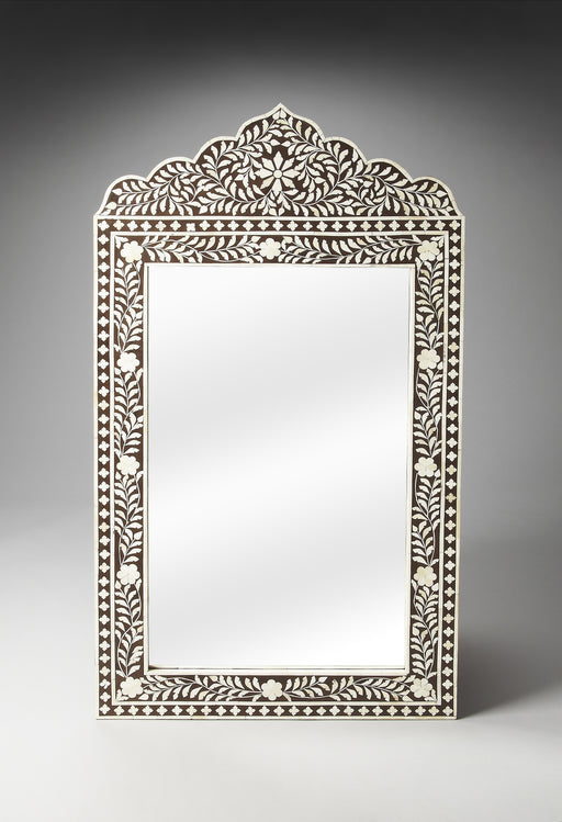 Victoria Brown Bone Inlay Wall Mirror