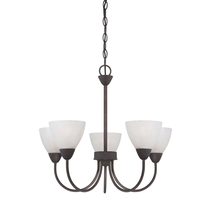 Thomas Lighting 190006763 Tia 5 Light Chandelier In Painted Bronze Painted Bronze