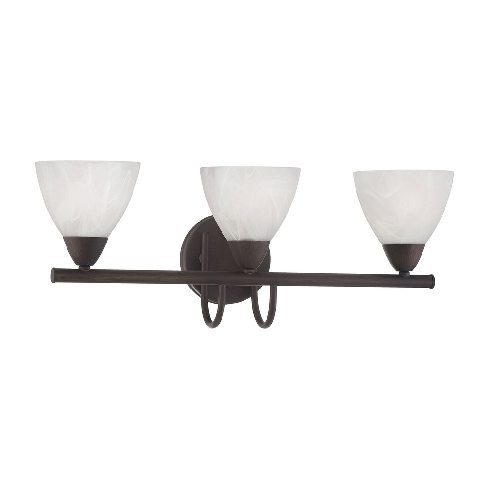 Thomas Lighting 190017763 Tia 3 Light Wall Lamp In Painted Bronze Painted Bronze