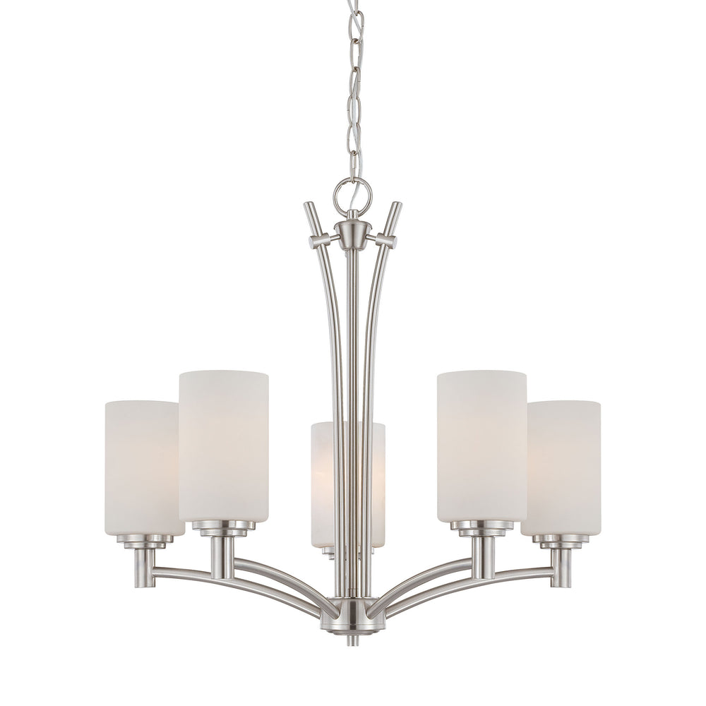 Thomas Lighting 190041217 Pittman 5 Light Chandelier In Brushed Nickel Brushed Nickel