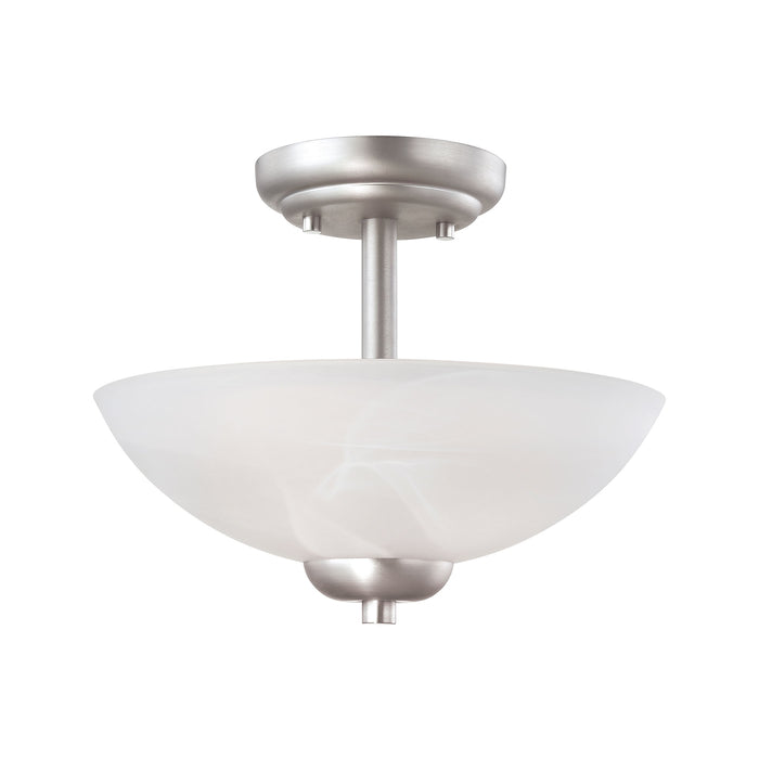 Thomas Lighting 190067117 Tia 2 Light Pendant In Matte Nickel Matte Nickel