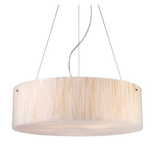ELK Lighting 19033/5 Modern Organics-5 Light Pendant In White Sawgrass Material In Pol Chrome Polished Chrome Free Parcel Delivery