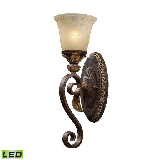 ELK Lighting 2150/1-LED 1 Light Wall Sconce In Burnt Bronze Burnt Bronze Free Parcel Delivery