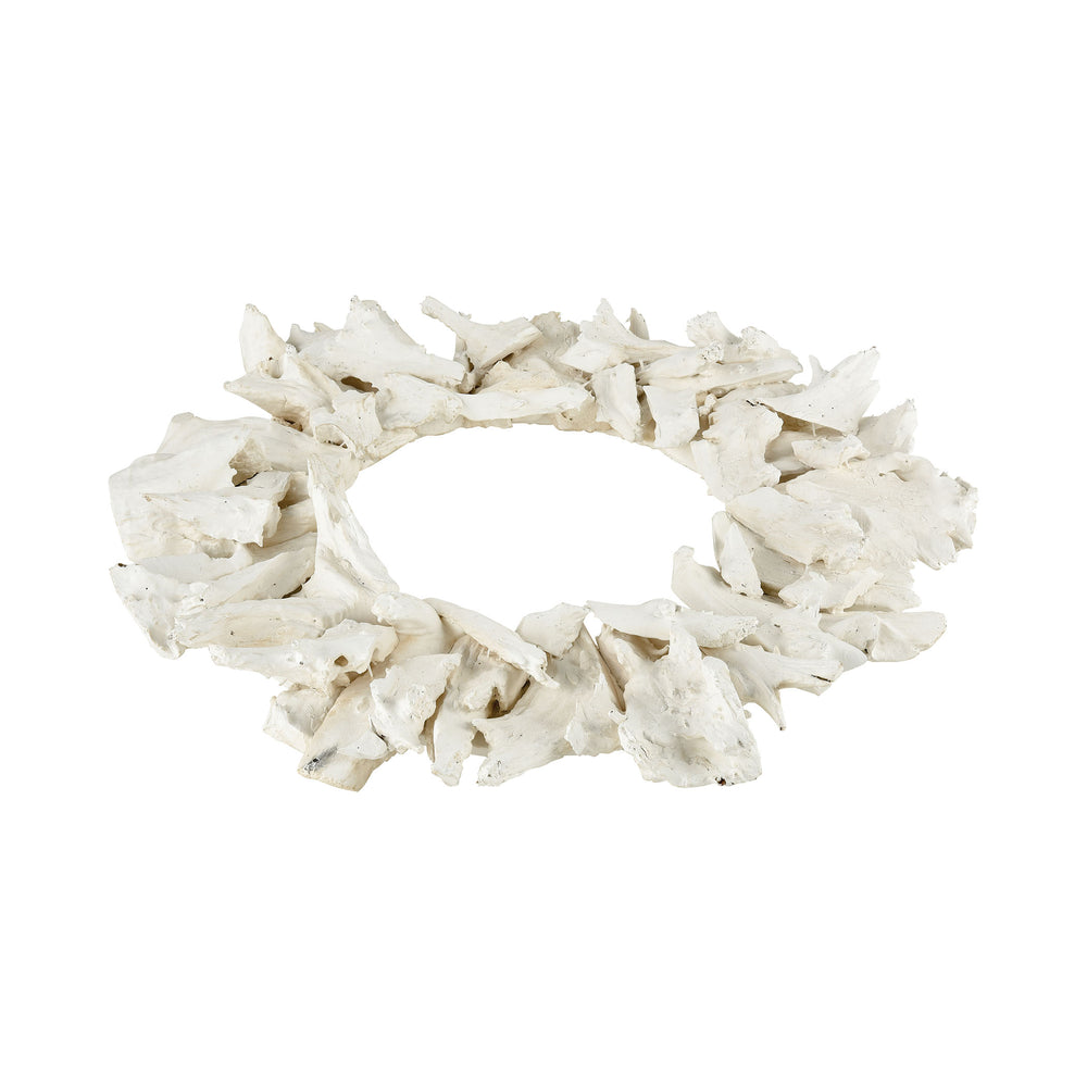 2181-065 Kringle Decorative Wood Wreath White
