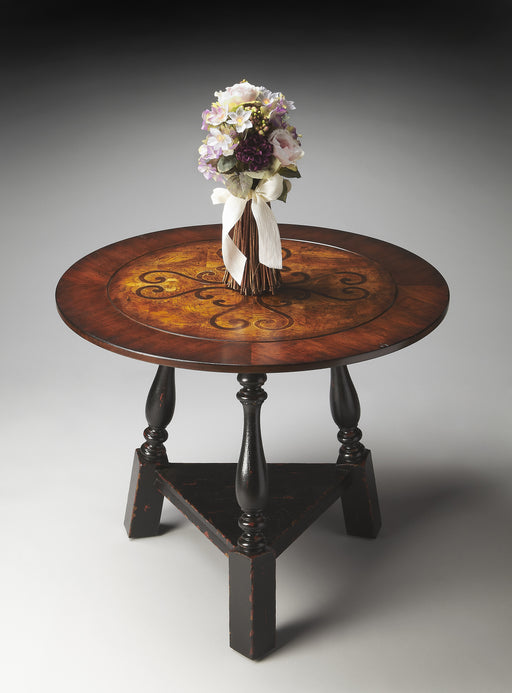 Charlton Round Inlay Foyer Table