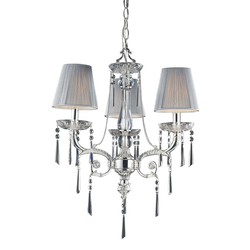 ELK Lighting 2395/3 D Princess Collection Polished Silver W/ Shades Polished Silver Free Parcel Delivery