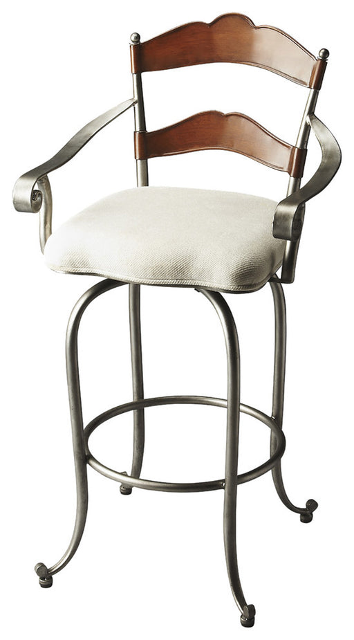 Amberton Metal & Wood Bar Stool