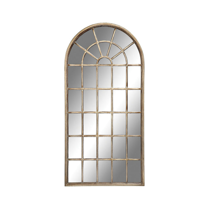 28396 Cathedral Floor Mirror Antique Gold
