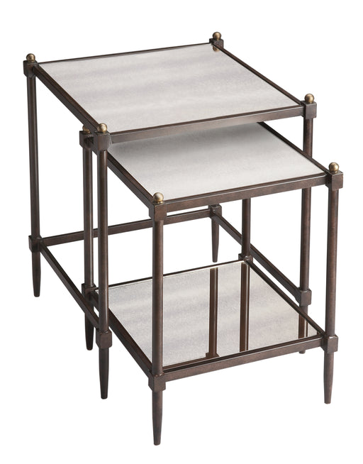 Peninsula Mirrored Nesting Tables