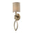 ELK Lighting 31120/1 Estonia 1 Light Sconce In Aged Silver With Shade Aged Silver Free Parcel Delivery