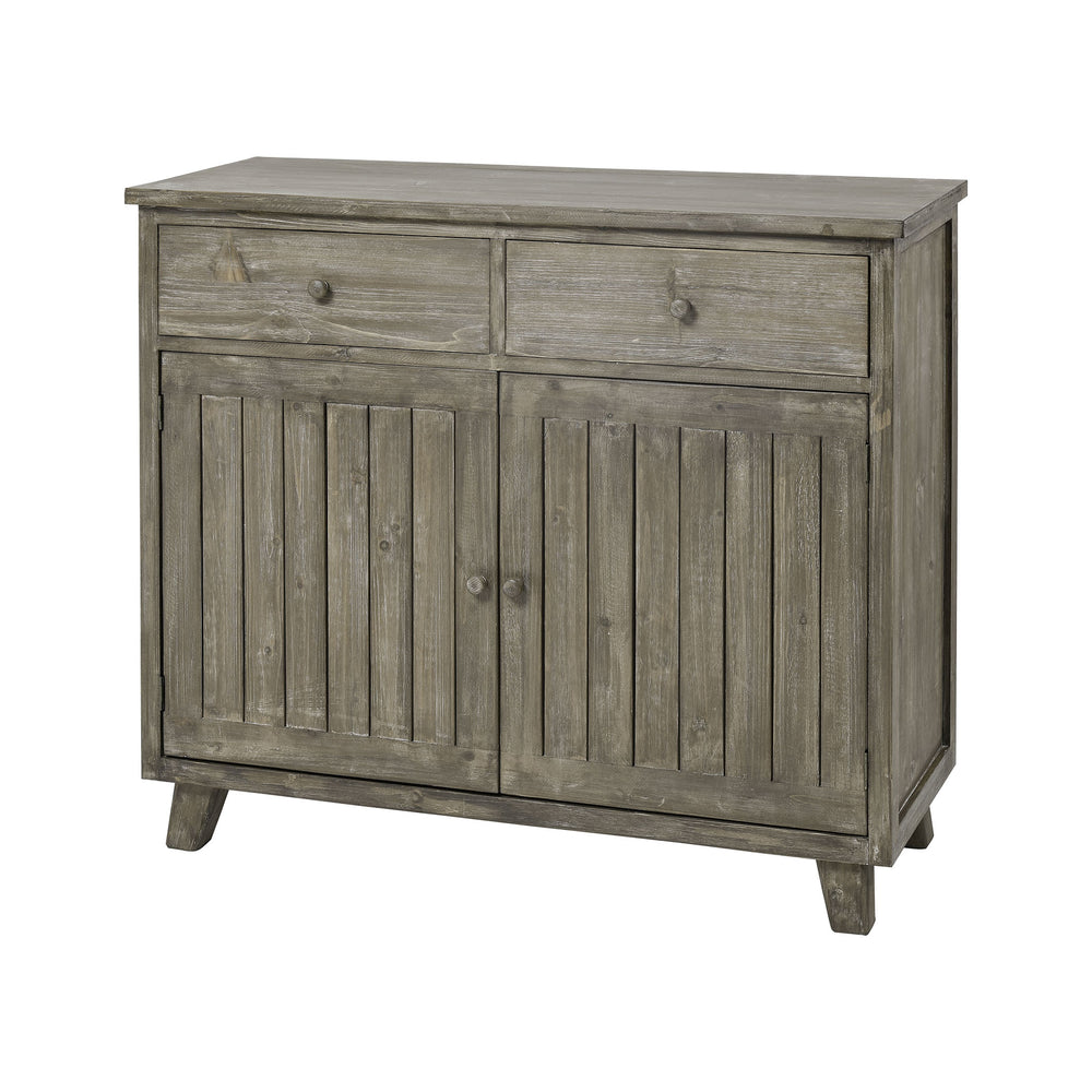 3128-1060BASE Renaissance Invention Cabinet Salvaged Grey Oak, Pewter