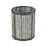 3138-437 Kin Planter Galvanized Steel, Black