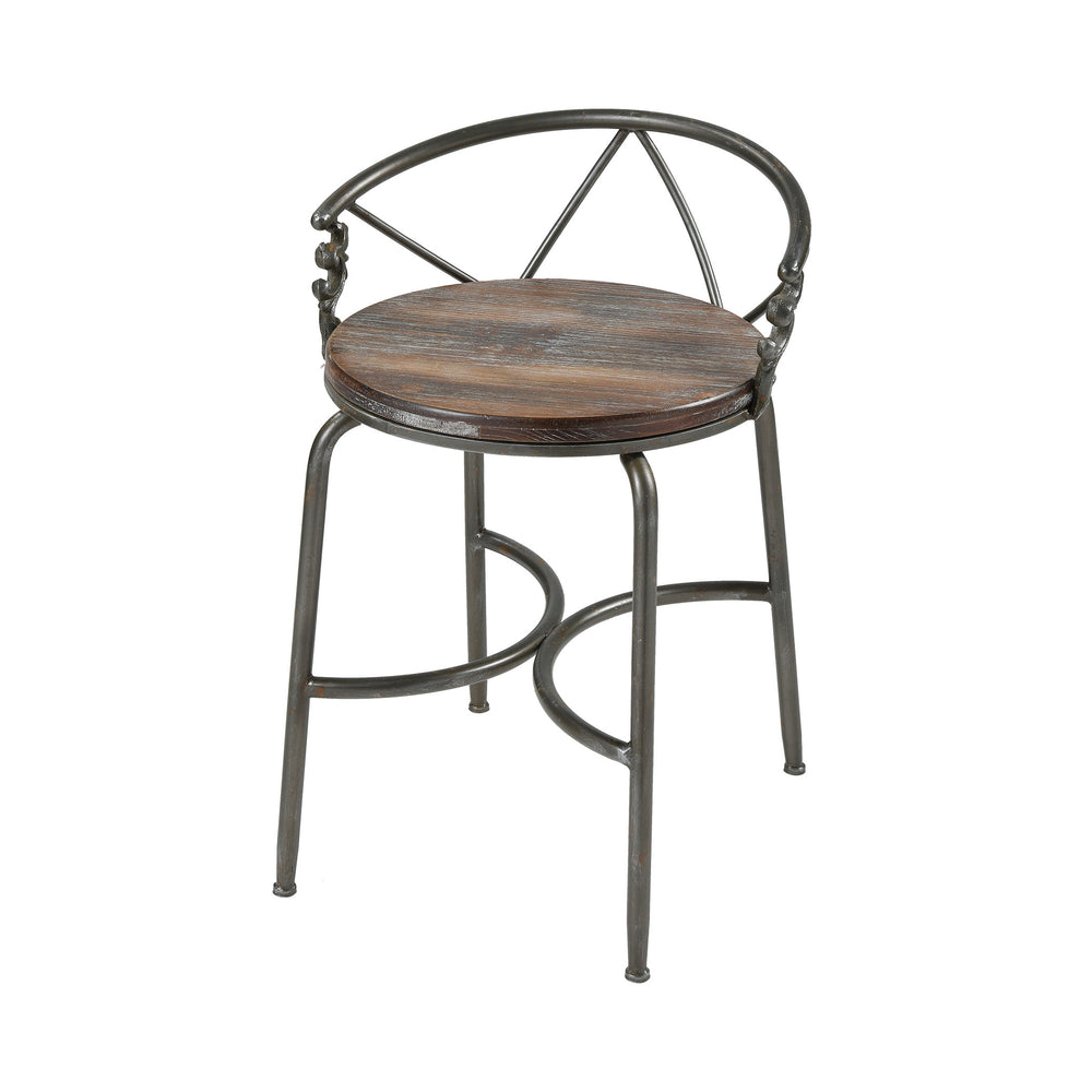 3138-448 Hunt Seat Chair Natural Wood, Pewter