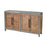 3138-453 Badlands Drifted Oak With Aged Iron 2-Door Wood And Metal Cabinet Drifted Oak, Aged Iron