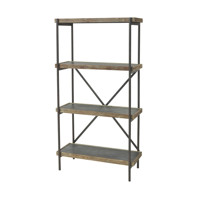 3138-458 Honcho Shelf Black, Wood Tone