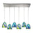 ELK Lighting 31445/6RC-TB Colorwave Collection 6 Light Pendant In Satin Nickel Satin Nickel Free Parcel Delivery