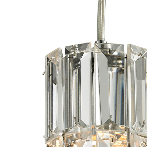 ELK Lighting 31486/1 Cynthia Collection 1 Light Mini Pendant In Polished Chrome Polished Chrome Free Parcel Delivery