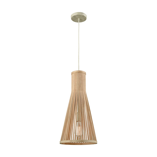 ELK Lighting 31644/1 Pleasant Fields 1 Light Pendant With Russet Beige Hardware And Natural Wicker Shade Russet Beige Free Parcel Delivery