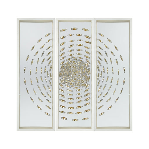 3168-040 Cache Wall Decor Gold, Silver, White