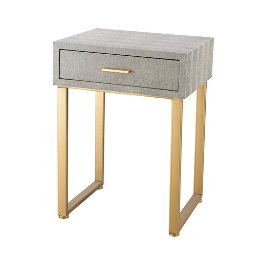 3169-025S Beaufort Point Accent Side Table With Drawer Gold, Grey