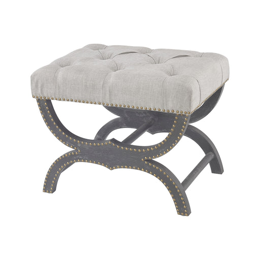 3169-029 Arnaz Bench Aged Black, Grey Linen