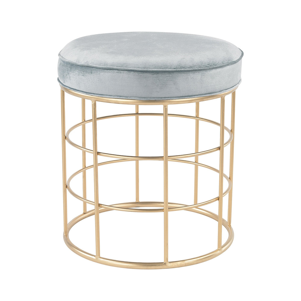 3169-032 Beverly Glen Accent Stool Duck Egg Blue, Gold