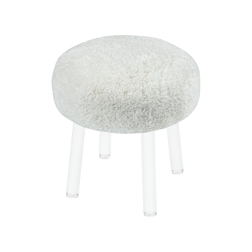 3169-076 Angel Food Stool White, Clear