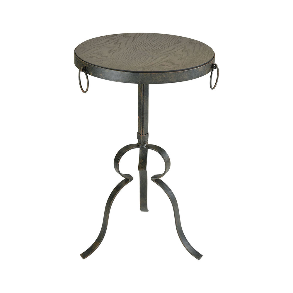 3200-139 Circa Round End Table Hazelnut, Rust