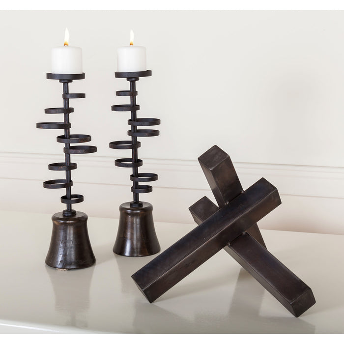 3200-142/S2 Ritmo Candle Holders Arabica, Dark Rust