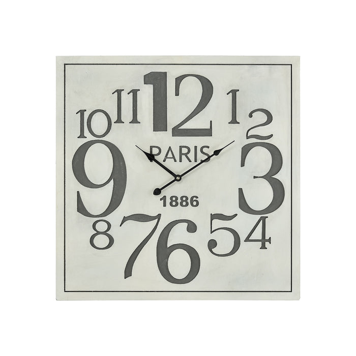 3205-006 Quai Voltaire Wall Clock Aged White, Grey