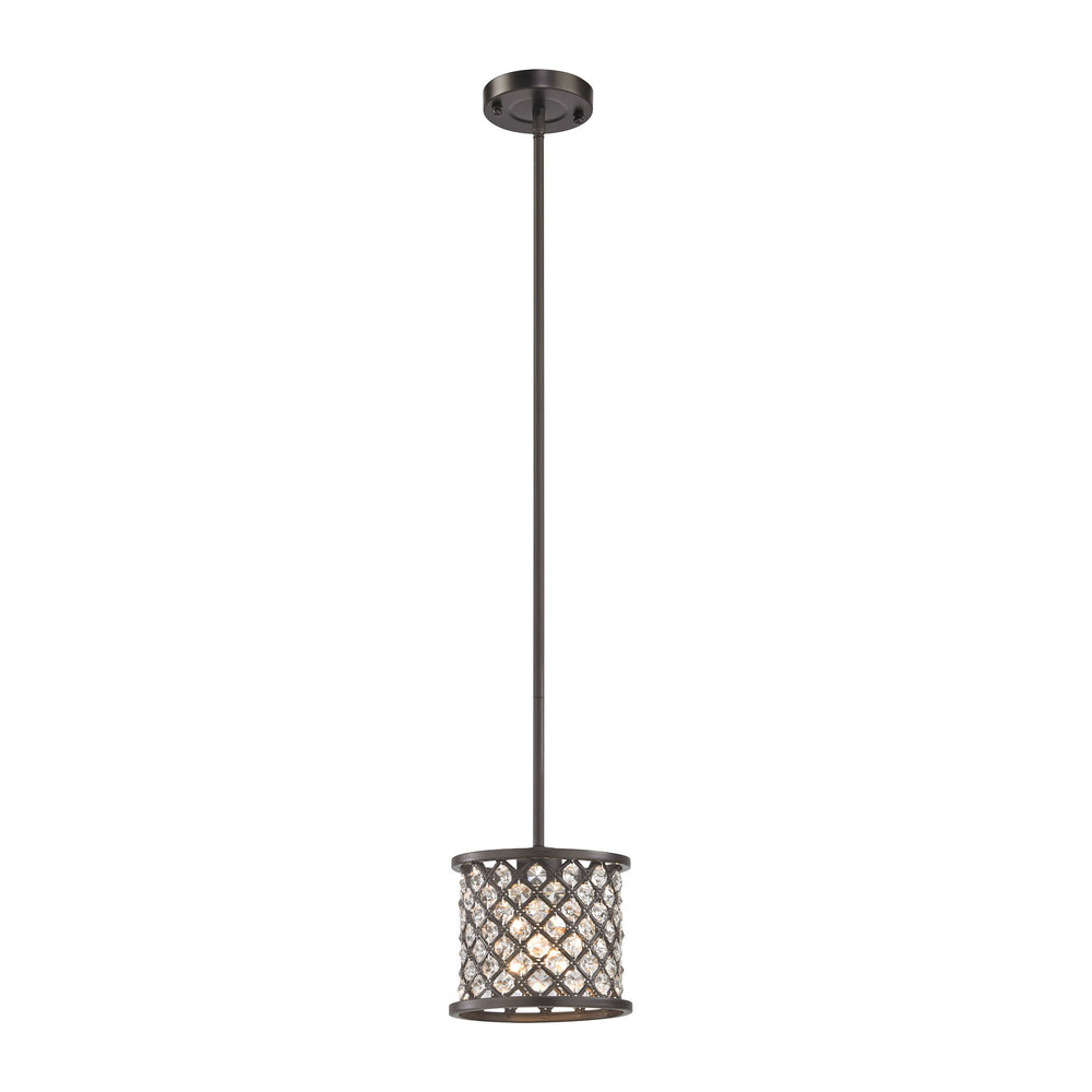 ELK Lighting 32102/1 Genevieve 1 Light Pendant In Oil Rubbed Bronze Oil Rubbed Bronze Free Parcel Delivery