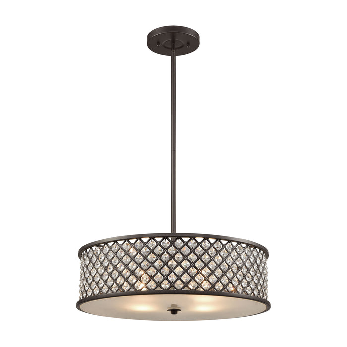 ELK Lighting 32105/4 Genevieve 4 Light Chandelier In Oil Rubbed Bronze Oil Rubbed Bronze Free Parcel Delivery