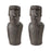 3212-1038/S2 Moai Quarry Decorative Sculpture I Grey