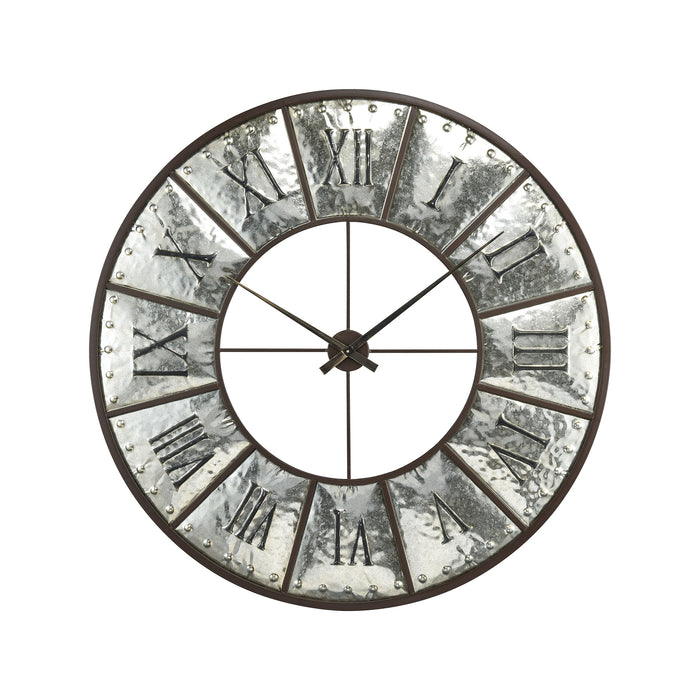 3214-1013 Queen And Country Wall Clock Silver, Bronze