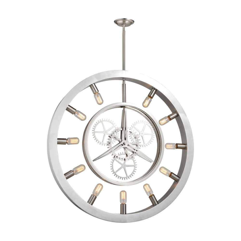 ELK Lighting 32236/11 Chronology 11 Light Chandelier In Brushed Nickel Brushed Nickel Free Threshold Delivery