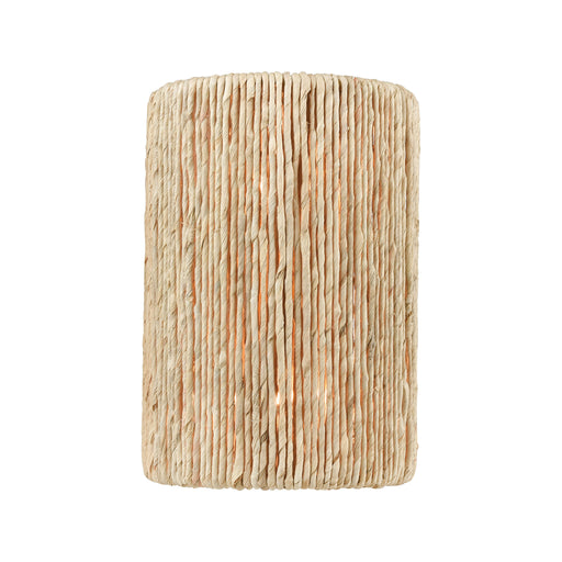 ELK Lighting 32410/2 Abaca 2 Light Sconce In Satin Brass With Abaca Rope Satin Brass Free Parcel Delivery