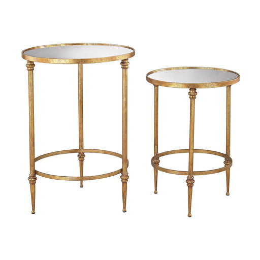 Sterling Alcazar Accent Tables In Antique Gold And Mirror 351-10236/S2 Antique Gold