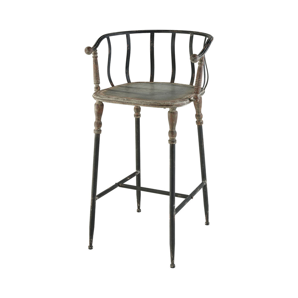 351-10514 Yonkers Bar Stool Galvanized Steel, Rust